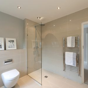 wet room, walk-in shower, modern Bathroom interior, Wimbledon Interior Designer, Nikkirees.com