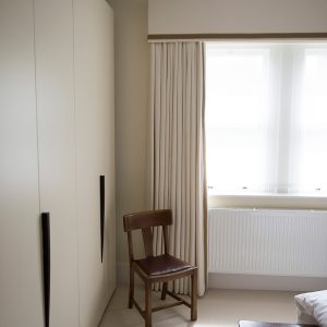 Master bedroom curtains, Built in wardrobes, Traditional, Nikkirees.com, wimbledon interior designer, london and surrey interior design