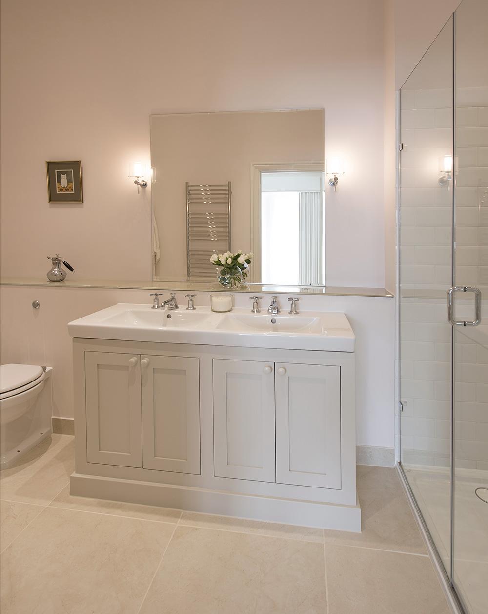 traditional Bathroom vanity unit, ensuite, shower room, Nikkirees.com, wimbledon interior designer, london and surrey interior design