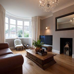 Grey lounge, nikkirees.com, Wimbledon Interior designer