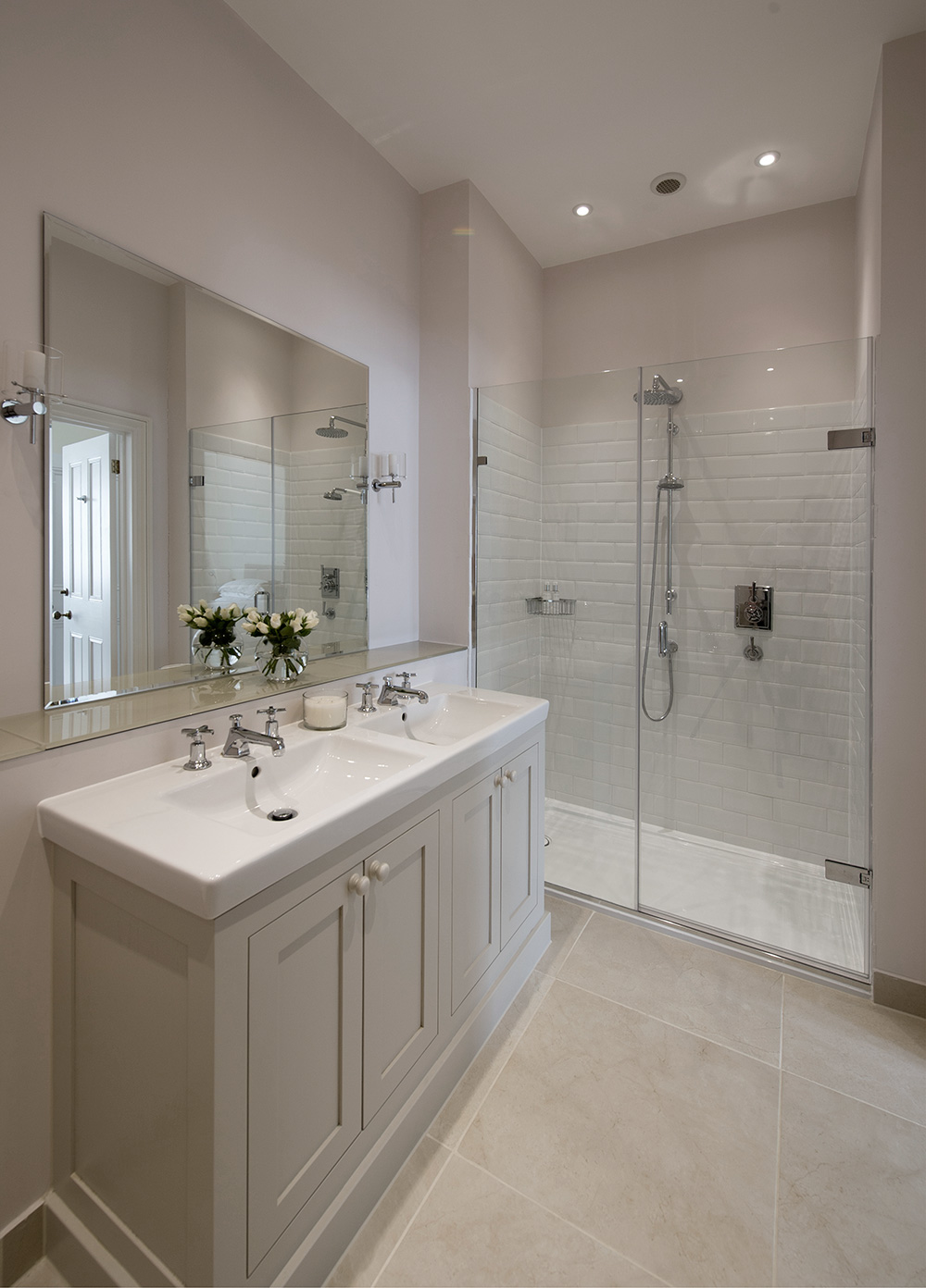 traditional Bathroom, ensuite, shower room, Nikkirees.com, wimbledon interior designer, london and surrey interior design