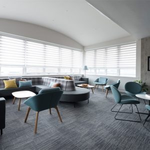 Office breakout lounge, Nikkirees.com, Workplace interior design, Office fit-out, Interior designer Wimbledon London