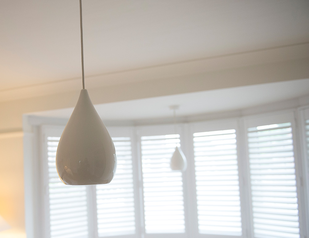 Bedroom lighting, BTC pendent lights, Interior styling, Wimbledon Interior Designer, Nikkirees.com