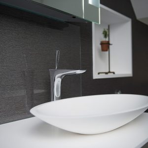 Bathroom design dark colours in bathrooms Wimbledon interior design surrey interiors bathroom decor